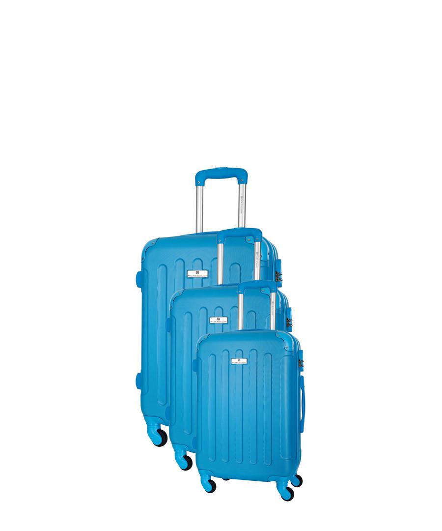 Allgood 3pc blue spinner suitcase nest Sale - platinium