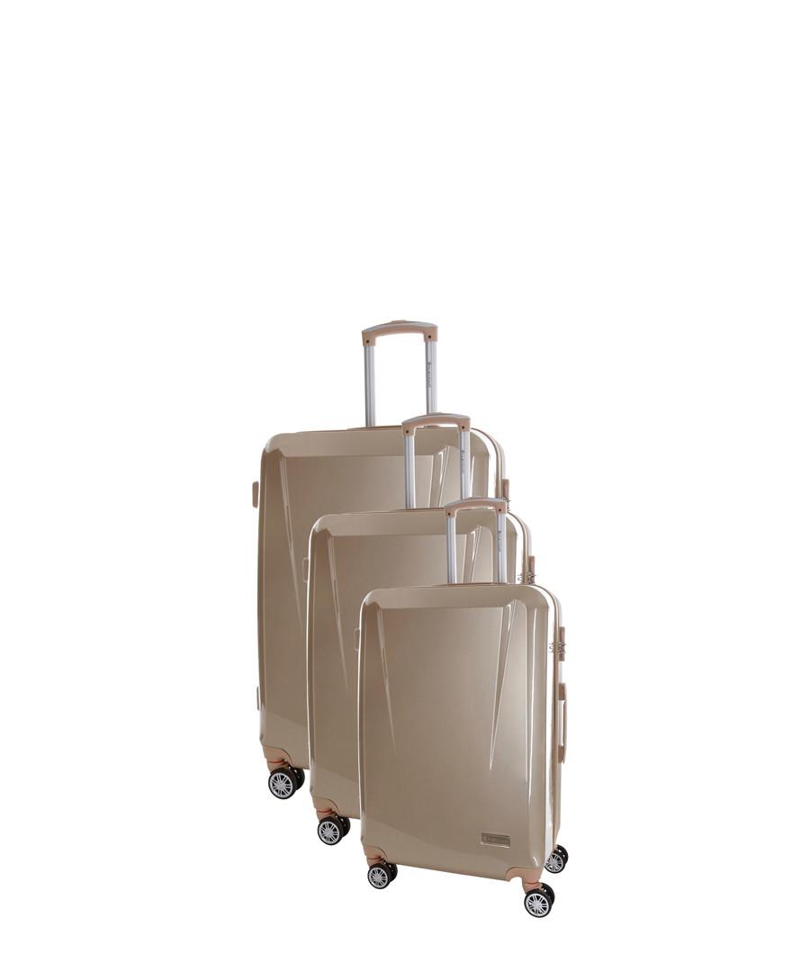 Southport 3pc beige suitcase nest Sale - platinium