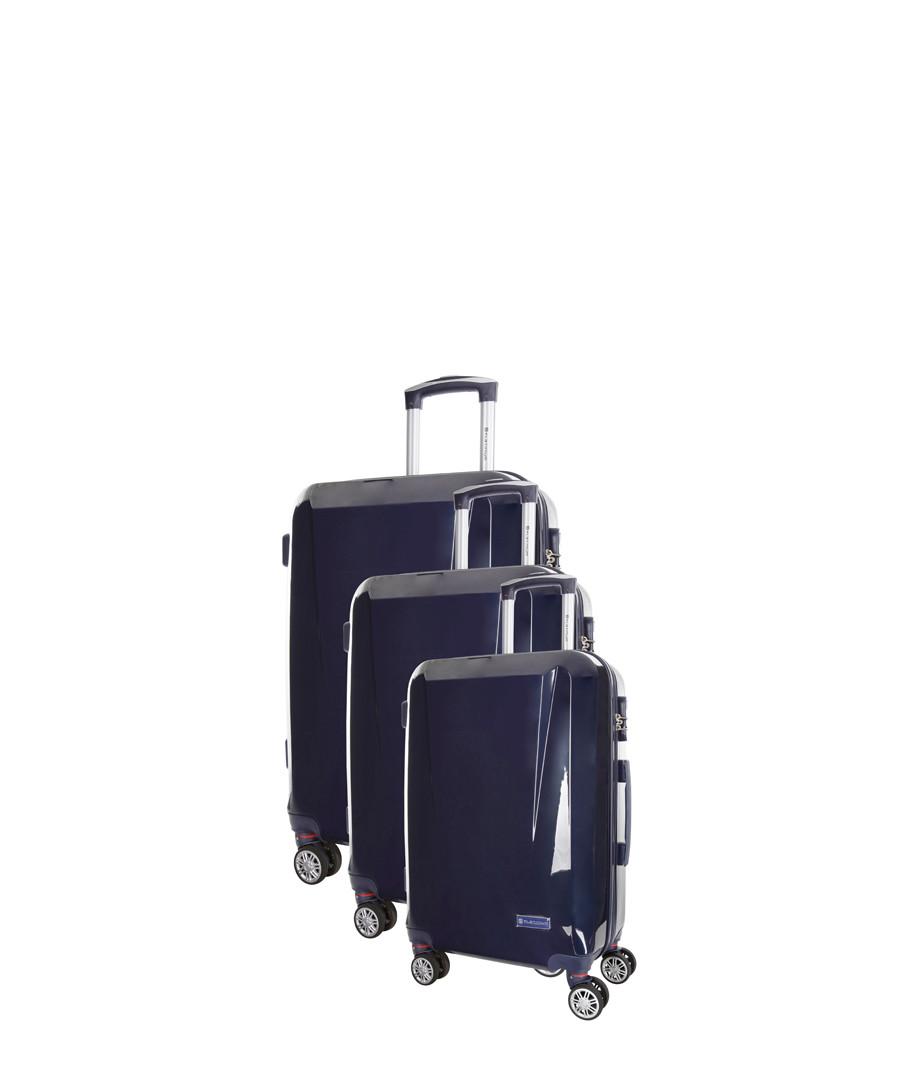 Southport 3pc blue spinner suitcase nest Sale - platinium