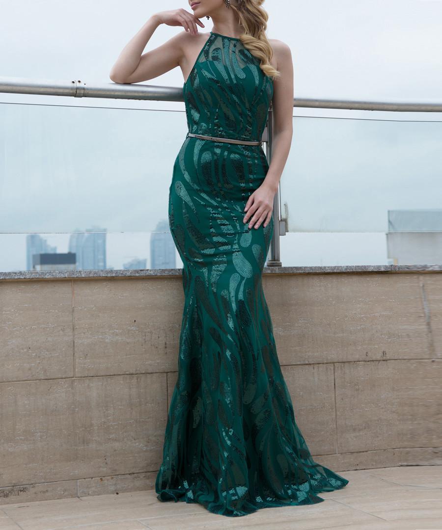 4a40b82a668b ... Green bodycon maxi dress Sale - zibi london ...