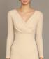 Cream v-cut maxi dress Sale - zibi london Sale