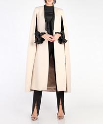 Beige cape coat