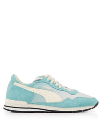 Rainbow OG pale blue panel sneakers