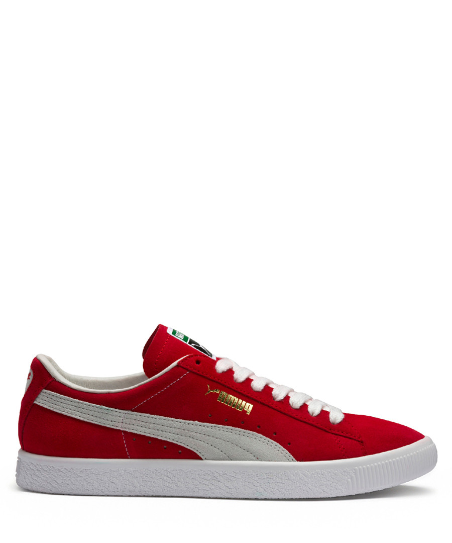 Red & white sneakers Sale - puma