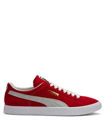 Red & white sneakers