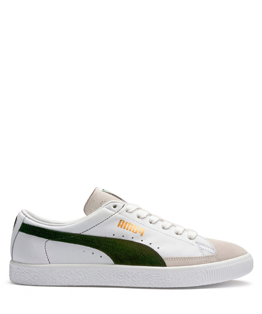 Green & white logo lace-up sneakers Sale - puma