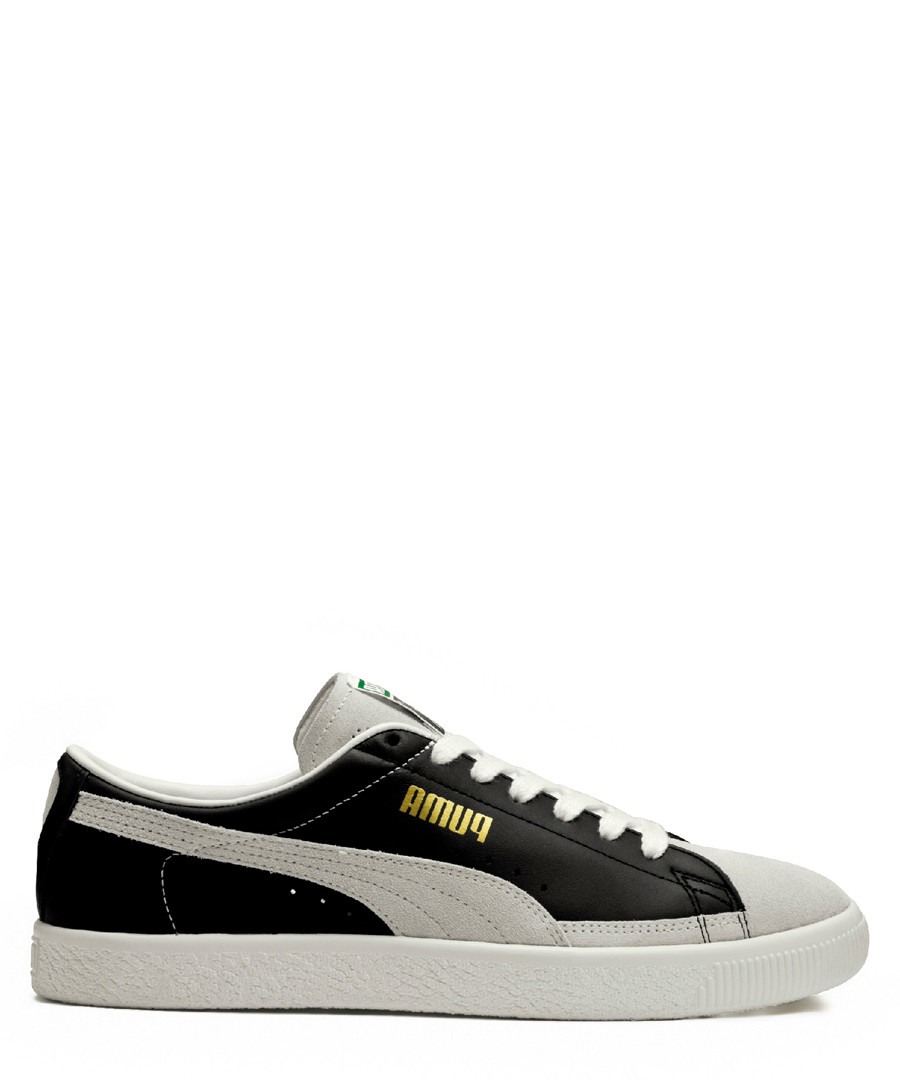 White & black lace-up sneakers Sale - puma