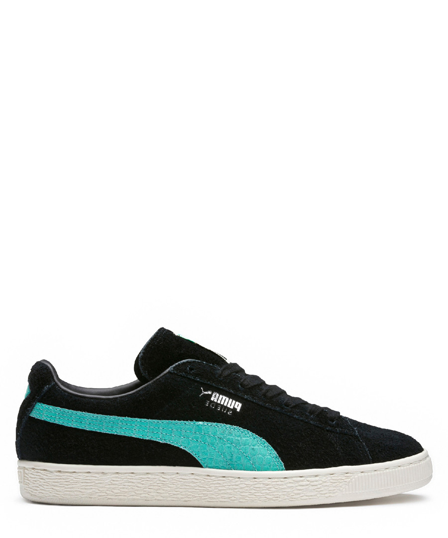 Black & blue lace-up sneakers Sale - puma