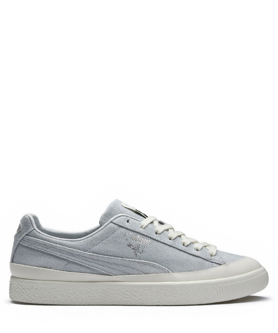Grey & white lace-up sneakers Sale - puma
