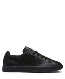 Clyde black lace-up sneakers