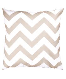 Sand zig-zag pattern cushion cover 50cm