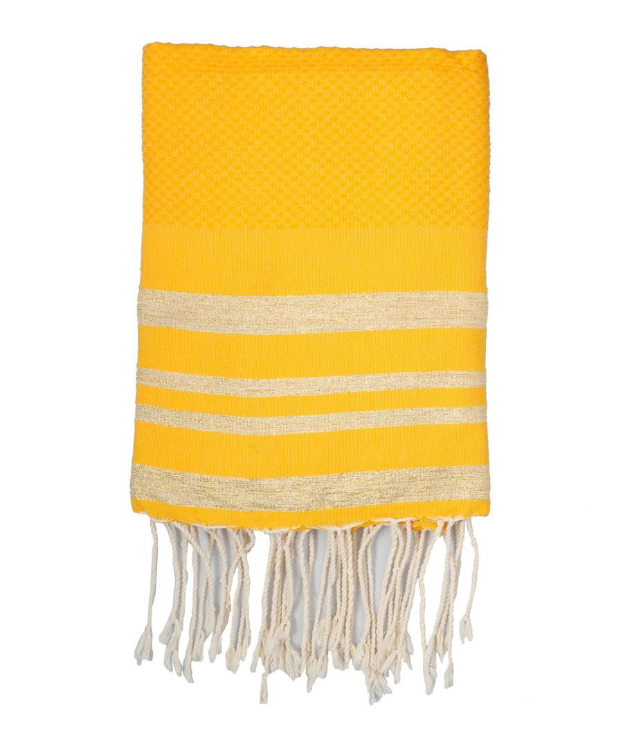 Hamptons yellow & gold towel Sale - FEBRONIE
