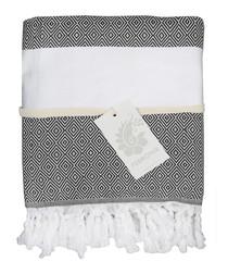 Courchevel black pure cotton towel