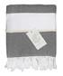 Courchevel black pure cotton towel Sale - FEBRONIE Sale