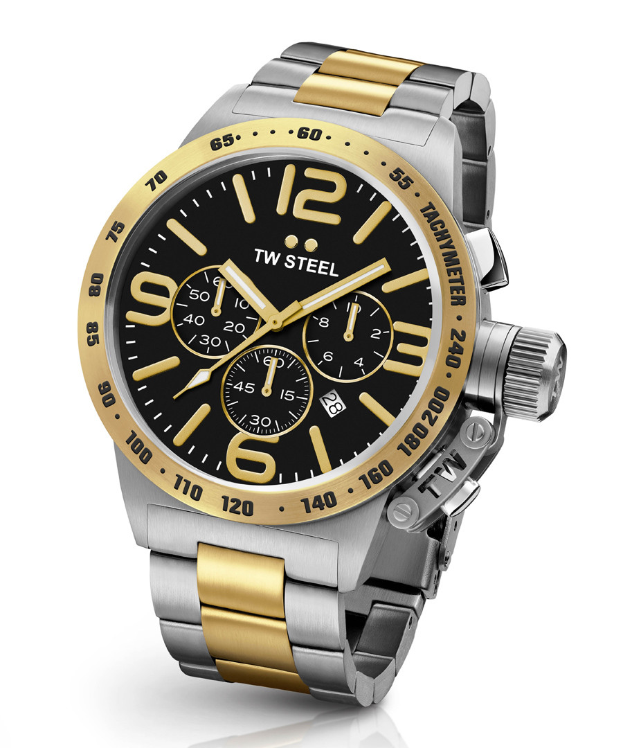 Black & gold-tone steel watch Sale - tw steel