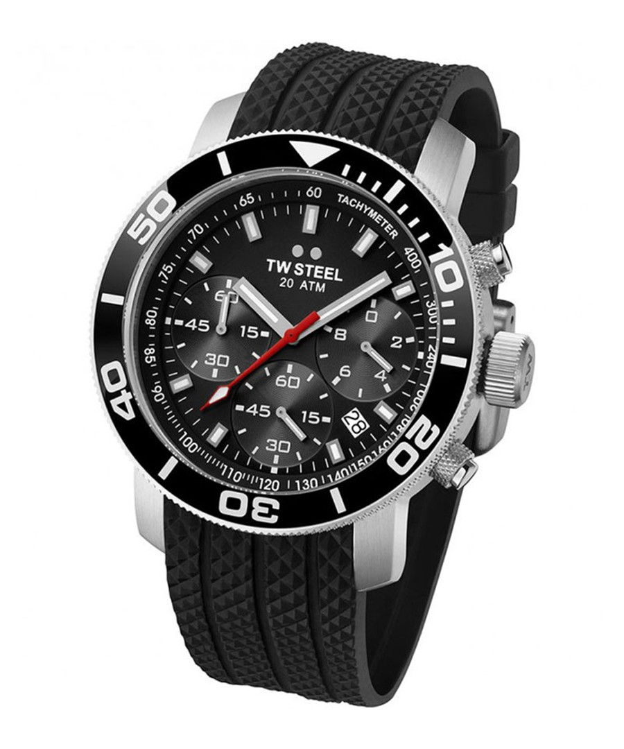 Black & silver-tone analogue watch Sale - tw steel