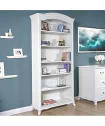 White birch bookcase