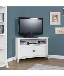 White birch 2 doors corner TV unit
