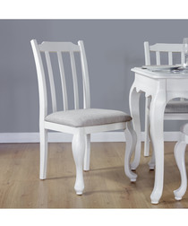 2pc white birch dining chairs
