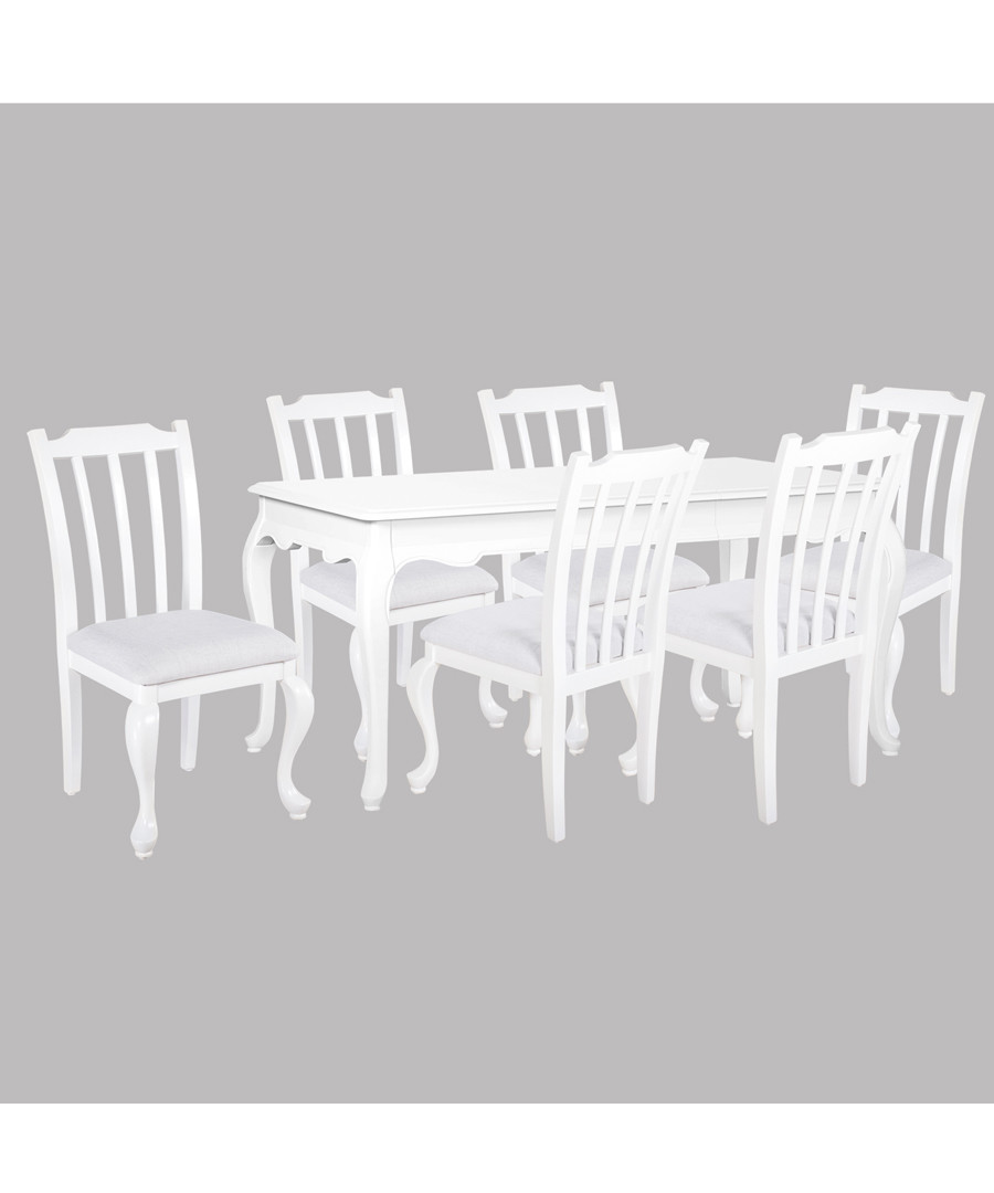 6pc white birch dining set with table Sale - Oseasons
