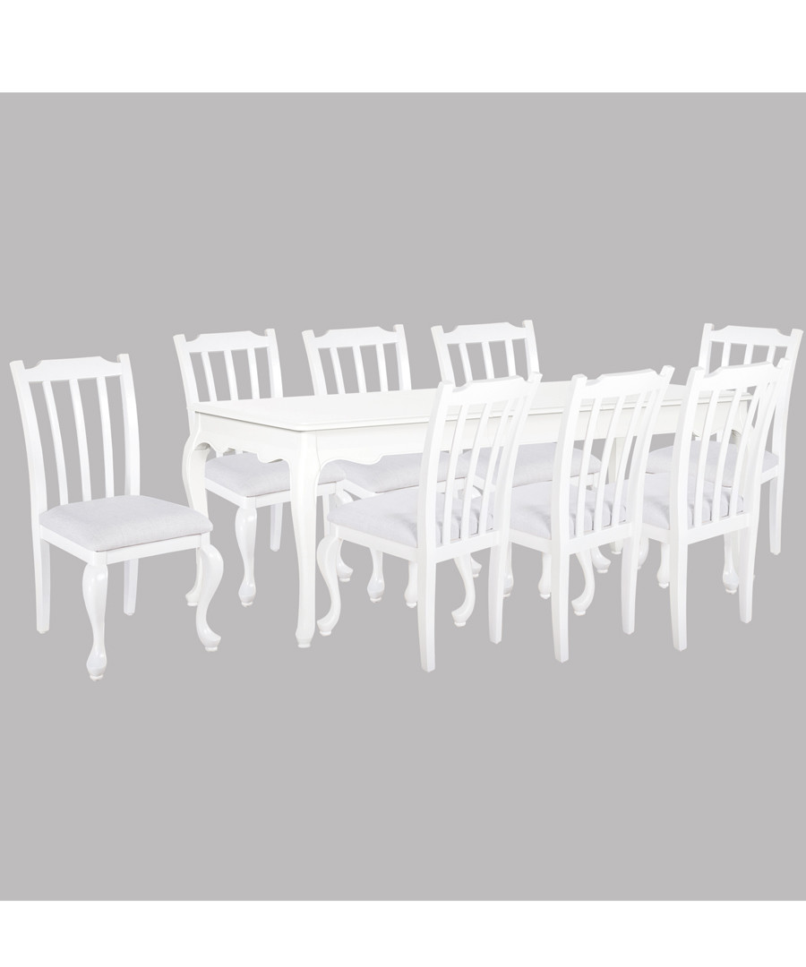 8pc white birch dining set with table Sale - Oseasons