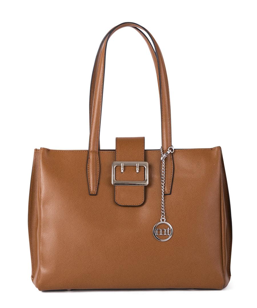 Tan leather buckle grab bag Sale - mia tomazzi