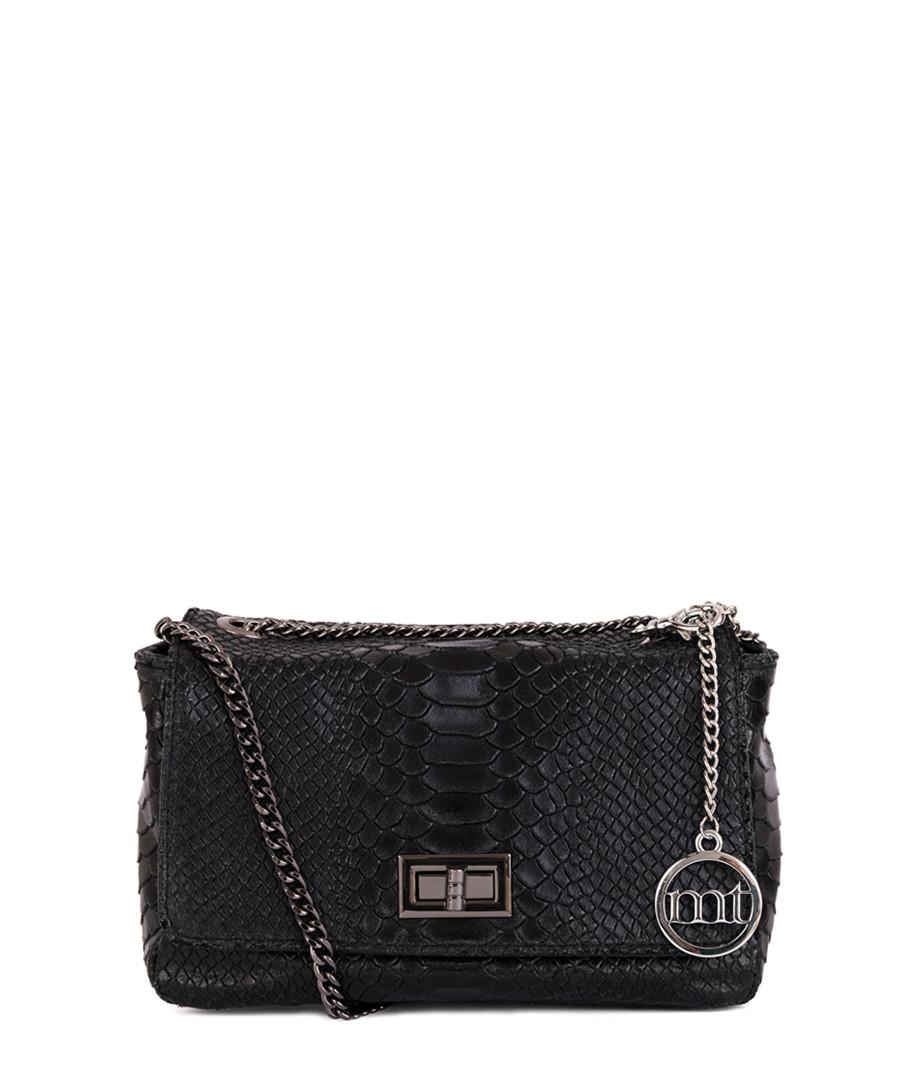 Black leather textured cross body bag Sale - mia tomazzi