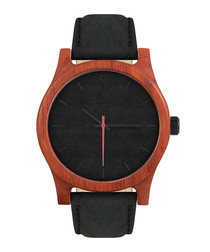 Black & brown leather watch