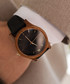 Black, brown & gold-tone leather watch Sale - NEAT Sale
