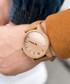 Beige & brown leather watch Sale - NEAT Sale