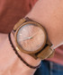 Beige & brown leather watch Sale - NEAT Sale