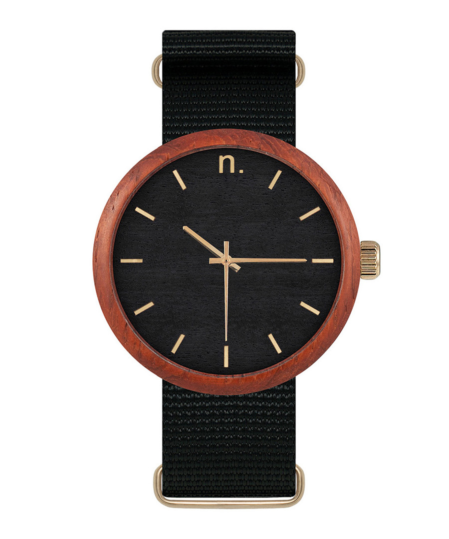 Black & gold-tone watch Sale - NEAT