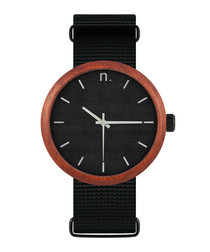 Black & silver-tone watch