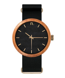 Black & gold-tone watch
