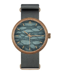 Grey pattern face watch