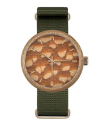 Orange & green pattern watch
