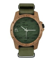 Green numberless watch