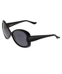 Black & purple lens oversize sunglasses