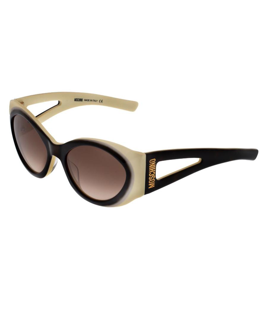 Cream & black two tone sunglasses Sale - moschino
