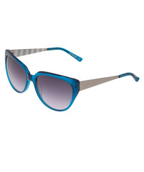 Blue & silver-tone sunglasses