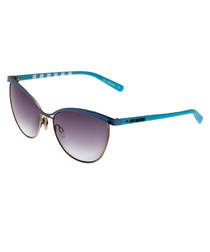 Blue gradient lens sunglasses