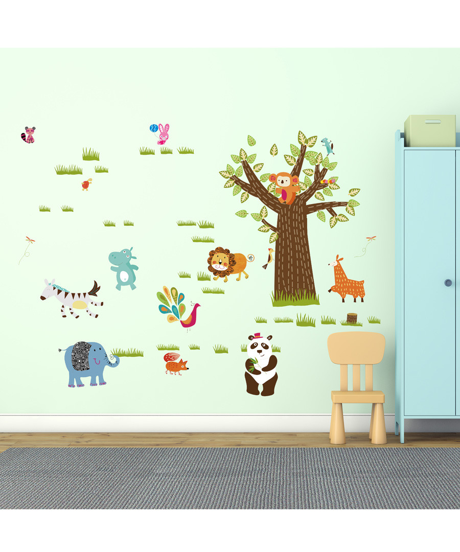 Kid's Zoo in my Room wall stickers Sale - Walplus