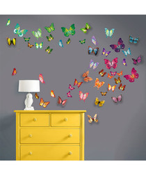 Colourful Butterflies 3D wall stickers