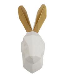 Rabbit white & gold wall mount