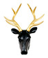 Deer black & gold wall mount Sale - Walplus Sale