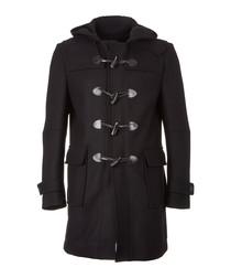 Devon black wool duffle coat