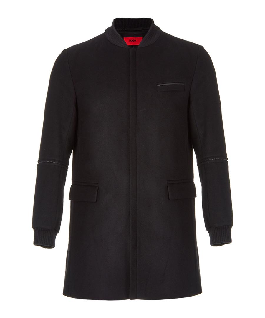 Mazon black wool & cashmere coat Sale - hugo boss