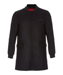 Mazon black wool & cashmere coat