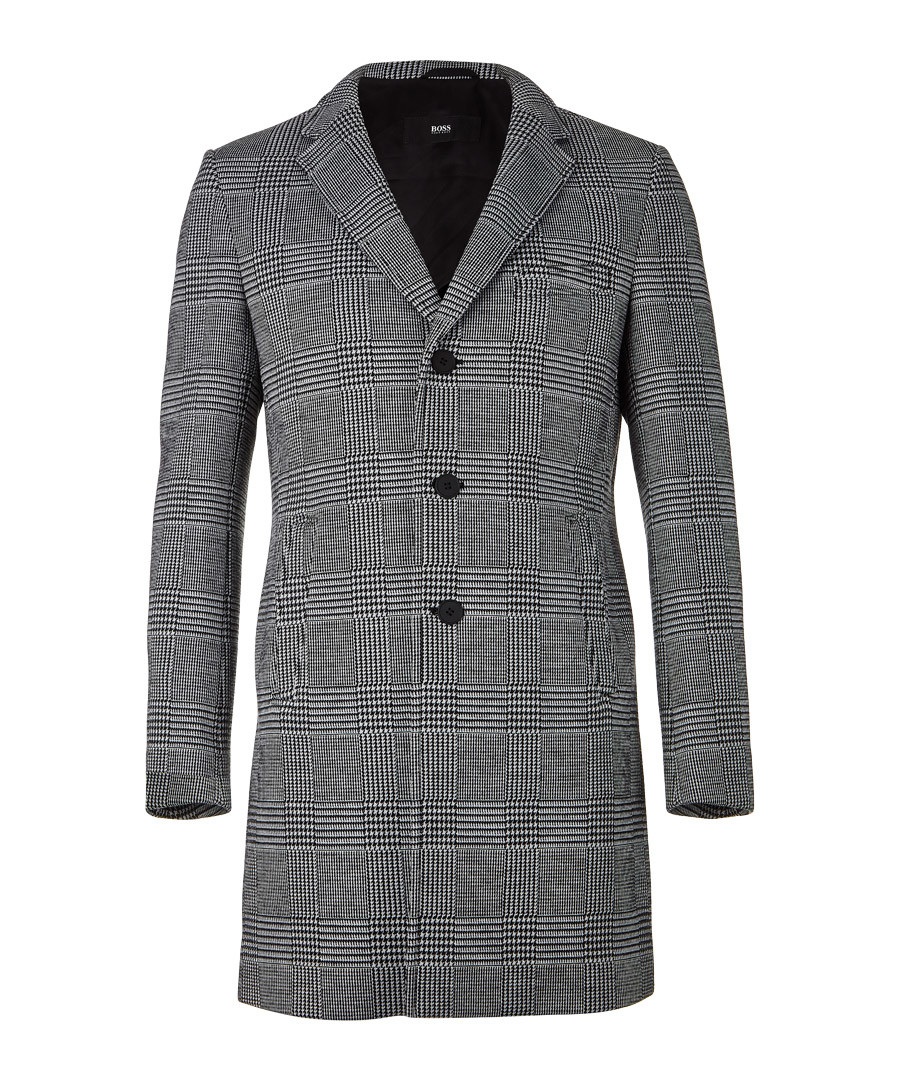 Shawn charcoal button-up coat Sale - HUGO BOSS