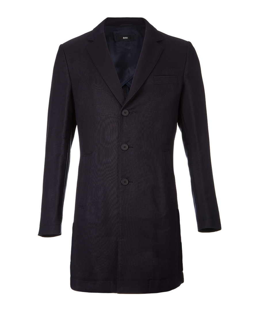 Steven dark blue wool blend coat Sale - hugo boss